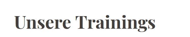Anpassungen Trainingszeiten Dienstag